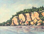 "Bon Echo ""The Rock"" (plein air)"