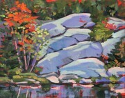 """Cool Day and Fall Colours"" (plein air)"
