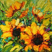 Vibrant Sunflowers (sold)