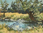 """It's been a dry summer"" (plein air)"