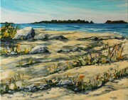 On Knife Island, Lake Huron (plein air)