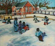 Skating at the Little Red Schoolhouse (sold)